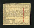 Colonial Notes:Massachusetts, Massachusetts May 5, 1780 $3 About New. A lightly circulatedMassachusetts note that has good margins and an internal slash ...