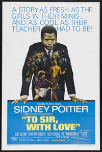 """To Sir, with Love (Columbia, 1967). One Sheet (27"""" X 41""""). Drama. Starring Sidney Poitier, Judy Geeson, Christ..."""