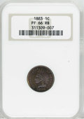 Proof Indian Cents: , 1883 1C PR66 Red and Brown NGC. Minor proof sets for 1883 included the last issue of the Shield nickel, the Liberty Head No...
