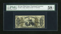 """Fractional Currency:Third Issue, Fr. 1361 50c Third Issue Justice PMG Choice About Uncirculated 58 EPQ. A pleasing example of this green back Justice with """"a..."""