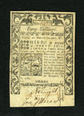 Colonial Notes:Rhode Island, Rhode Island May 1786 40s New. Some corner mounting remnants areseen on this well margined Rhode Island note....