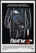 "Movie Posters:Horror, Friday the 13th (Paramount, 1980). One Sheet (27"" X 41""). Horror.Starring Betsy Palmer, Adrienne King, Harry Crosby and Lau..."