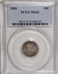 Barber Dimes: , 1901 10C MS65 PCGS. PCGS Population (32/13). NGC Census: (25/10). Mintage: 18,860,478. Numismedia Wsl. Price for NGC/PCGS c...