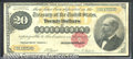 Large Size Gold Certificates:Large Size, 1882 $20 Gold Certificate, Fr-1178, Fine-VF. The gold color on ...