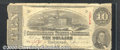 Confederate Notes:1863 Issues, 1863 $10 State Capitol at Columbia, SC; R.M.T. Hunter, T-59, VG...