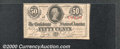 Confederate Notes:1863 Issues, April 6, 1863, 50c Jefferson Davis, CS-63, XF. Numerous small f...