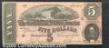 Confederate Notes:1864 Issues, 1864 $5 State Capitol at Richmond, VA in center; C.G. Memminger...