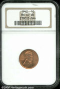 Lincoln Cents: , 1942 1C, RD
