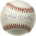 Autographs:Baseballs, Mickey Mantle Single Signed Baseball. An essential component of anyserious collection, the Mantle single we present here r...
