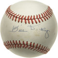 Autographs:Baseballs, Bill Dickey Single Signed Baseball. Hall of Fame backstop BillDickey was comfortable around some of the biggest stars the ...