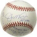 "Autographs:Baseballs, Joe Montana ""HOF 2000"" Single Signed Stat Baseball. A rarityindeed! Only 1,000 of these fantastic collectibles were creat..."