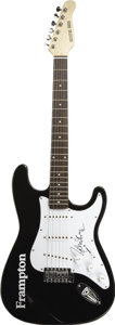 Music Memorabilia:Autographs and Signed Items, Peter Frampton Signed Guitar. A black Signature Series electricguitar with a Frampton logo on the body, signed on the pick ...(Total: 1 Item)