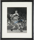 "Autographs:Photos, Ted Williams Signed Photograph. An exceptional presentationalpiece, this impressive 11x14"" photo shows the Splendid Splint..."