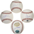 Autographs:Baseballs, Star Pitchers Single Signed Baseballs Lot of 4. Fine quartet ofsingles courtesy of four of the brightest pitchers from the...