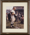 Autographs:Photos, Mickey Mantle Signed Photograph. When the New York Yankees honoredthe heroic Mickey Mantle on September 18, 1965, the worl...
