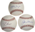 Autographs:Baseballs, Alfonso Soriano, Jim Leyritz and Joe Torre Single Signed BaseballsLot of 3. Each of the men featured in this lot were toge...