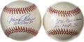 Autographs:Baseballs, Don Newcombe and Johnny Podres Single Signed Baseballs Lot of 2. Each of the All-Star former Dodgers represented in this lo...