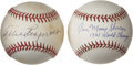 Autographs:Baseballs, Allie Reynolds and Moose Skowron Single Signed Baseballs Lot of 2.Each of the official baseballs that we present here spor...