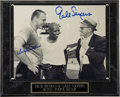 Football Collectibles:Others, Dick Butkus and Gale Sayers Dual-Signed Photograph. Fans of the Chicago Bears will go ga-ga over the current offering, an e...
