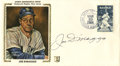 Autographs:Others, 1984 Joe DiMaggio Signed First Day Cover. New York's beloved YankeeClipper has penned an elegant transmission of his signa...