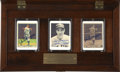 Autographs:Others, Joe DiMaggio Signed Porcelain Card Display. The porcelain cardsthat we offer here have each been designed to emulate three...