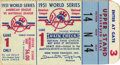 Baseball Collectibles:Tickets, 1951 World Series Game 1 Ticket Stub. The 1951 World Series markedan important transition not only affecting the New York ...