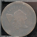 1795 1/2C Plain Edge Good 6. B-5b, C-5b, R.5. The dark, crimson-brown surfaces show evidence of slight corrosion. Typica...