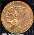 1925-D $2 1/2 MS 64. Both sides of this sharply struck specimen are awash in rich crimson-gold patination. Lustrous and...