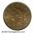 1819 1C Small Date MS 64 Brown PCGS. Glossy-brown in texture with above average striking detail for an early large cent...