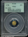 California Fractional Gold: , 1870 25C BG-835