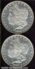 1885 $1 MS 64 Deep Mirror Prooflike, a sparkling, untoned example that is only a few trivial obverse marks from Gem qual...