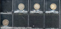 Twenty Cent Pieces: 1875 20C VF 30 Holed, Plugged; 1875-S VF 20 Damaged, Cleaned; 1875-S XF 40 Cleaned; and an 1875-S XF...