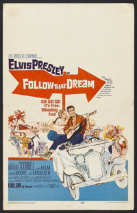 "Follow That Dream (United Artists, 1962). Window Card (14"" X 22""). Elvis Presley. Starring Elvis Presley, Arth..."