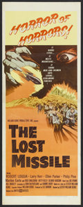 """Movie Posters:Science Fiction, The Lost Missile (United Artists, 1958). Insert (14"""" X 36""""). Science Fiction. Starring Robert Loggia, Larry Kerr, Ellen Park..."""