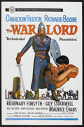 "Movie Posters:War, The War Lord (Universal, 1965). One Sheet (27"" X 41""). Historical War. Starring Charlton Heston, Richard Boone, Rosemary For..."