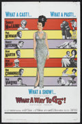 """Movie Posters:Comedy, What a Way to Go! (20th Century Fox, 1964). One Sheet (27"""" X 41"""").Comedy. Starring Shirley MacLaine, Paul Newman, Robert Mi..."""