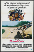 "Movie Posters:Sports, Grand Prix (MGM, 1967). One Sheet (27"" X 41""). Car Racing. Starring James Garner, Eva Marie Saint, Yves Montand, Toshiro Mif..."