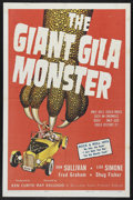 "Movie Posters:Horror, The Giant Gila Monster (McLendon Radio Pictures, 1959). One Sheet (27"" X 41""). Sci-Fi Horror. Starring Don Sullivan, Lisa Si..."