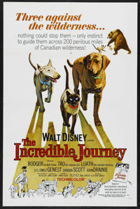 "The Incredible Journey (Buena Vista, 1963). One Sheet (27"" X 41""). Family Adventure. Directed by Fletcher Mark..."