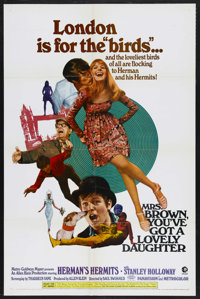 "Mrs. Brown, You've Got a Lovely Daughter (MGM, 1968). One Sheet (27"" X 41""). Rock and Roll Comedy. Starring He..."