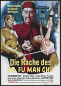 "Movie Posters:Horror, The Vengeance of Fu Manchu (Constantin Film, 1967). German Poster (23"" X 33""). Horror. Starring Christopher Lee, Douglas Wil..."