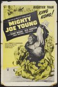 """Movie Posters:Adventure, Mighty Joe Young (RKO, R-1957). One Sheet (27"""" X 41""""). Adventure.Starring Terry Moore, Ben Johnson, Robert Armstrong and Fr..."""