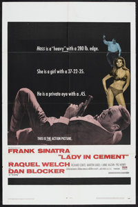 """Lady in Cement (20th Century Fox, 1968). One Sheet (27"""" X 41""""). Detective. Starring Frank Sinatra, Raquel Welc..."""