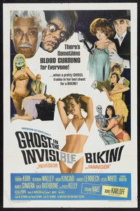 "Ghost In The Invisible Bikini (AIP, 1966). One Sheet (27"" X 41""). Horror Comedy. Starring Boris Karloff, Susan..."