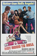 "Movie Posters:Cult Classic, Hot Rods to Hell (MGM, 1967). One Sheet (27"" X 41""). Thriller. Starring Dana Andrews, Jeanne Crain, Mimsy Farmer, Laurie Moc..."