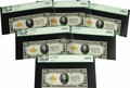 Small Size:Gold Certificates, Fr. 2402 $20 1928 Gold Certificates. Six Consecutive Examples. PCGS Very Choice New 64PPQ (3); Gem New 65PPQ (3).. This is t... (Total: 6 notes)
