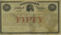 Ball 10 Cr. 1 $50 1861 Bond Very Good. This is one of only 250 bonds issued for this Montgomery type. Very few of those...