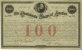 Confederate Notes:Group Lots, Ball 13 Cr. 2A $100 1861 Bond Very Fine. This bond was issued toMrs. Joel Butler at Richmond as Montgomery has been crossed...