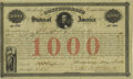 Confederate Notes:Group Lots, Ball 16 Cr. 4 $1000 1861 Bond Very Fine. The first 810 bonds ofthis denomination were issued at Montgomery. The portrait is...