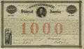 Confederate Notes:Group Lots, Ball 17 Cr. 4A $1000 1861 Bond Extremely Fine. This Richmond bondis one of only 190 issued. Also, we see the uncommon signa...